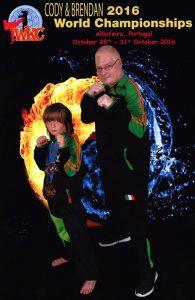 Brendan Donnelly WKC 8th Dan with Cody Oconnor World Kata Champion